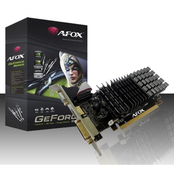 AFOX GeForce GT210 1GB 64bit DDR3 Low Profile Silent PCI-E Graphics Card