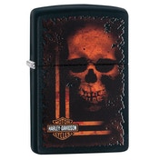 Zippo Harley Davidson Skull Black Regular Windproof Lighter