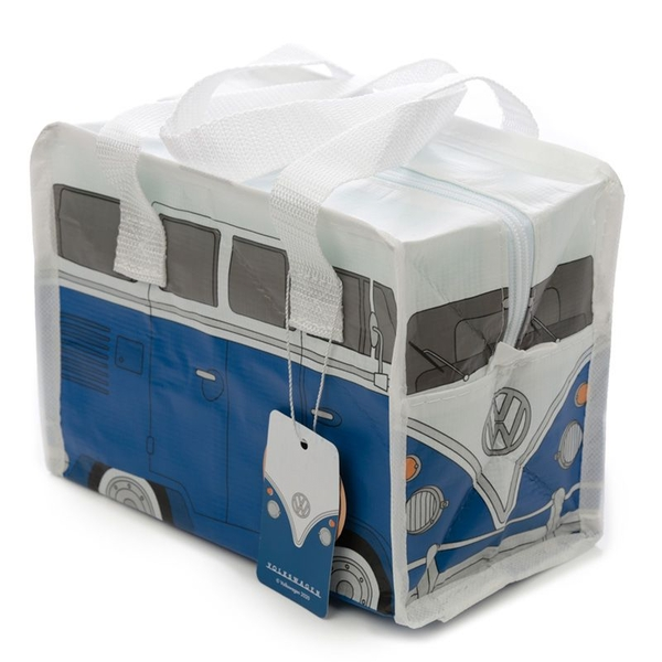 Volkswagen VW T1 Camper Bus Small Blue Lunch Bag