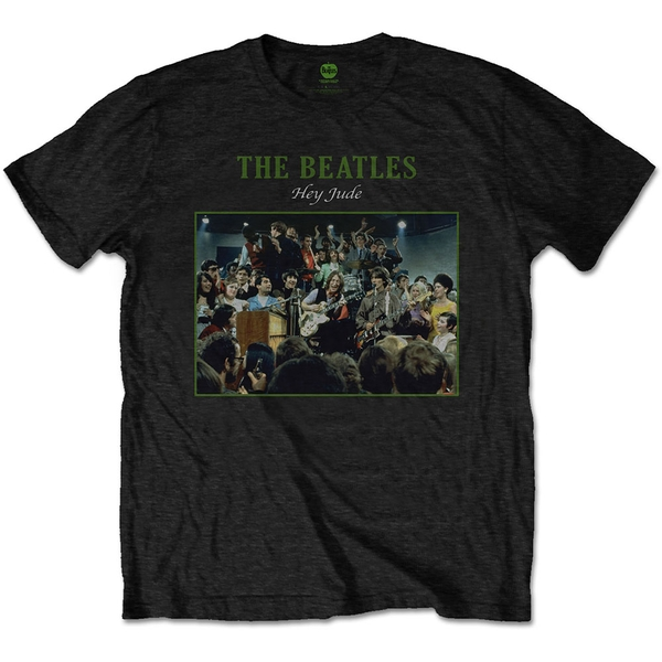 The Beatles - Hey Jude Live Men's Small T-Shirt - Black