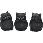 Three Wise Fat Cats Figurines