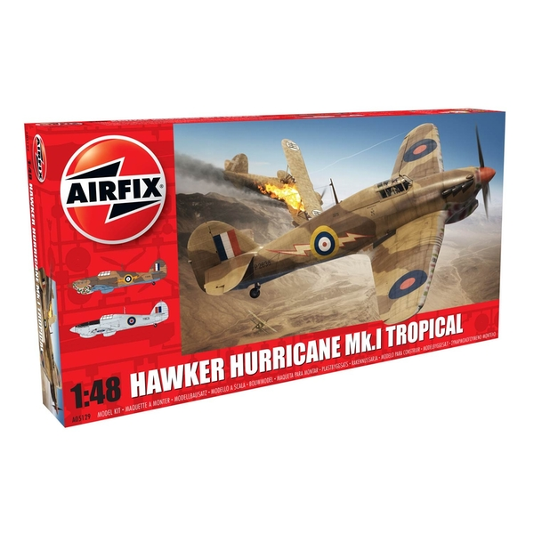 Hawker Hurricane Mk.I Tropical Series 5 1:48 Air Fix Model Kit