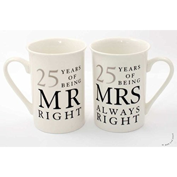 AMORE BY JULIANA? Mr & Mrs Mug Set - 25 Years