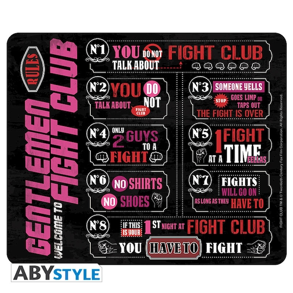 Fight Club - Fight Club Rules Mousepad