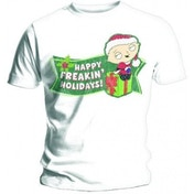 Family Guy Freakin Holidays Mens White T Shirt: Medium