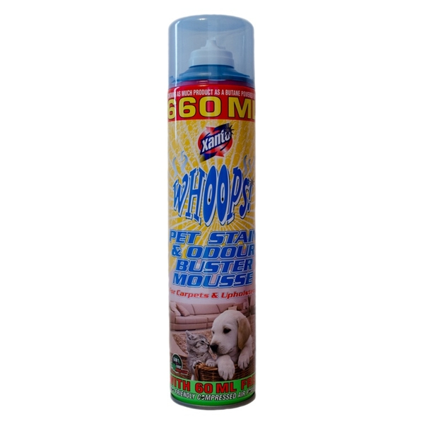 Xanto Vamoosh Pet Stain & Odour Buster Mousse 600ml