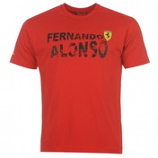 Ferrari Alonso T-Shirt Medium Red