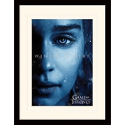 Game Of Thrones - Winter Is Here - Daenerys Mounted & Framed 30 x 40cm Print