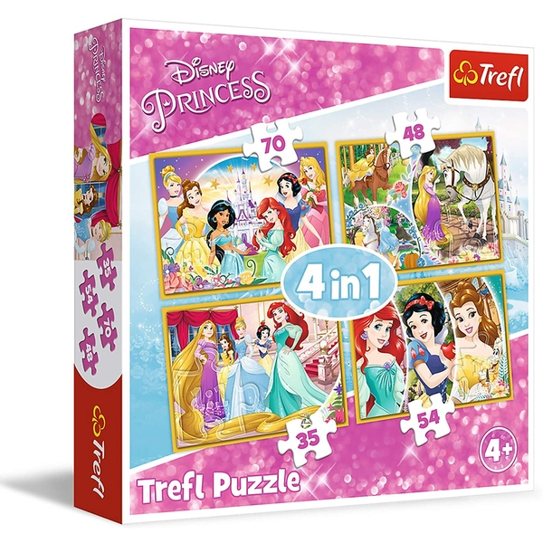 4 in 1 Disney Princess Jigsaw Puzzle
