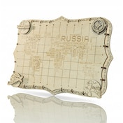 World Map Expedition Series Words Wooden City 3D Wooden Model Kit