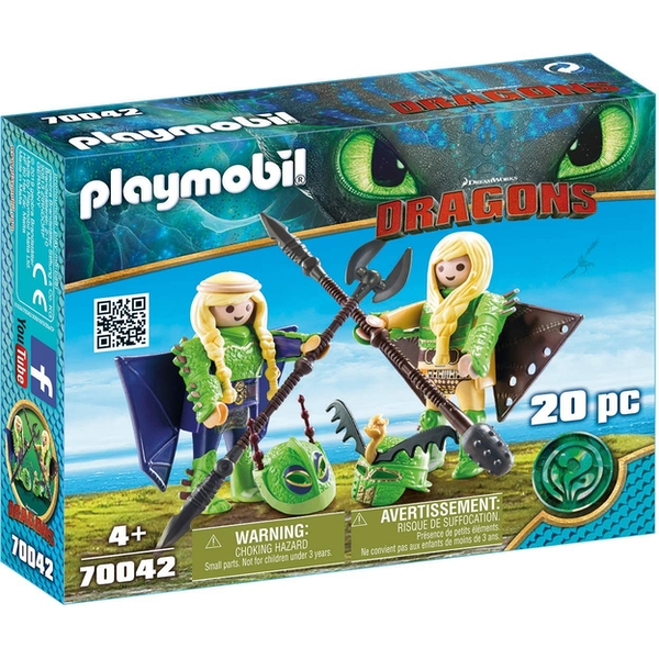 Playmobil - Dragons Ruffnut and Tuffnut with Flight Suit (DreamWorks) Playset