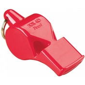 Fox 40 Pearl Safety Whistle C/W Wrist-Lanyard Red