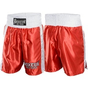 Boxing Shorts With Side Bands Men's Size Medium (Red)