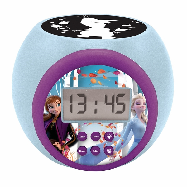 Disney Frozen II Childrens Projector Clock with Timer
