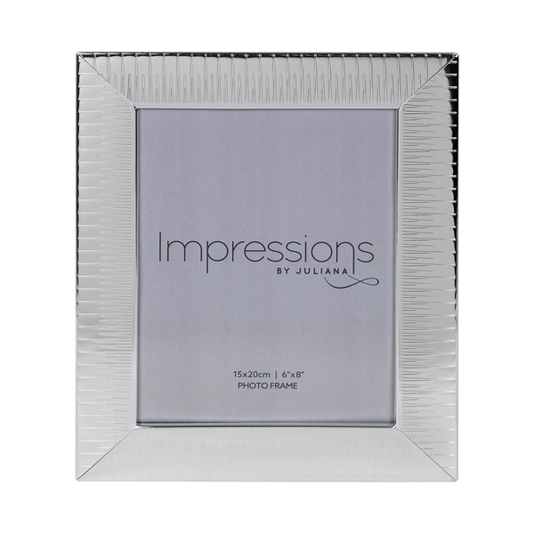 Ridged Silver Plated Photo Frame (6 x 8)