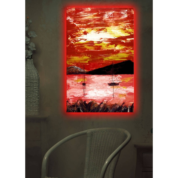 4570DACT-12 Multicolor Decorative Led Lighted Canvas Painting