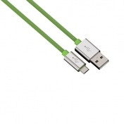 Hama Colour Line Charging/Sync Cable Micro USB Aluminium 1m (Green)