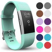 Yousave Fitbit Charge 2 Strap Single (Small) - Mint Green