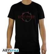 Dark Souls - You Died Men's Large T-Shirt - Black