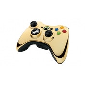 Official Microsoft Wireless Controller Gold Chrome Xbox 360