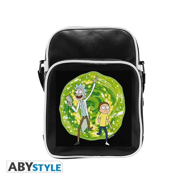 Rick And Morty - Portal- Vinyl Small  Messenger Bag