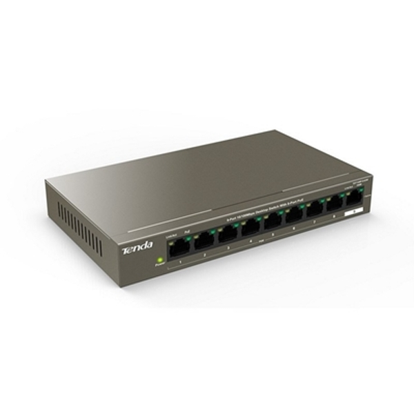 Tenda TEF1109P-8-63W 9-Port 10/100Mbps Desktop Switch With 8-Port PoE - Image 1