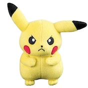 Tomy Officially Licensed Pokemon Angry Pikachu 20cm Plush