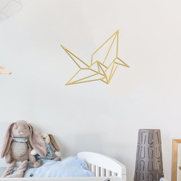 Origami - Gold Gold Decorative Metal Wall Accessory