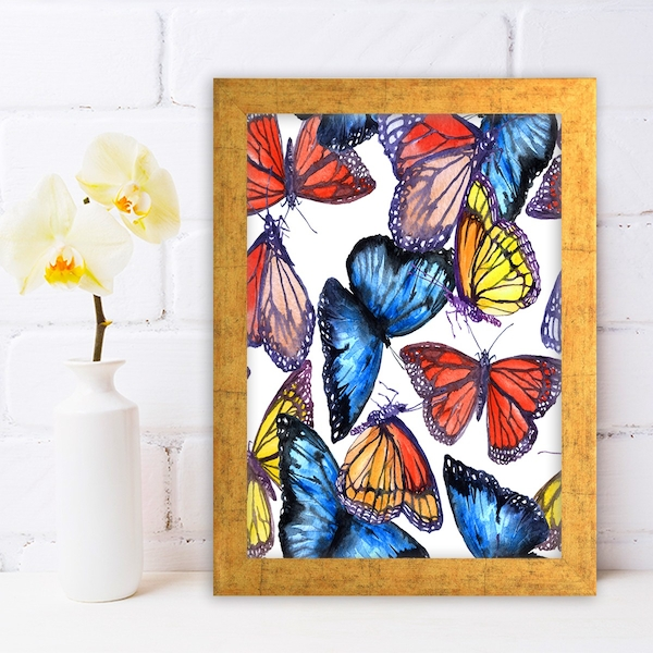 AC265711706 Multicolor Decorative Framed MDF Painting