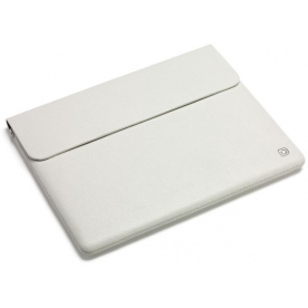 Dicota Leather Sleeve leather white for Apple iPad 1 and 2 D30355