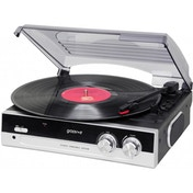 Groov-e Vintage Vinyl Record Player with Built-in Speakers Black