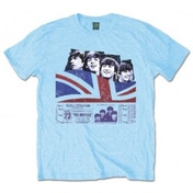The Beatles Shea Stadium Mens Light Blue Tshirt: Small