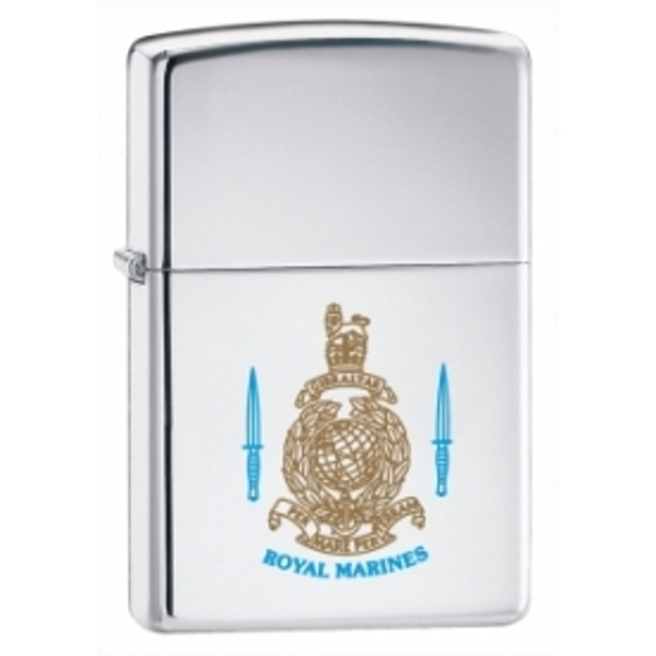 Zippo Royal Marines High Polish Chrome Windproof Lighter - Image 1
