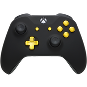 Xbox One S Controller - Black Velvet & Gold Edition
