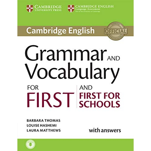 Grammar and Vocabulary for First and First for Schools Book with Answers and Audio  Mixed media product 2015