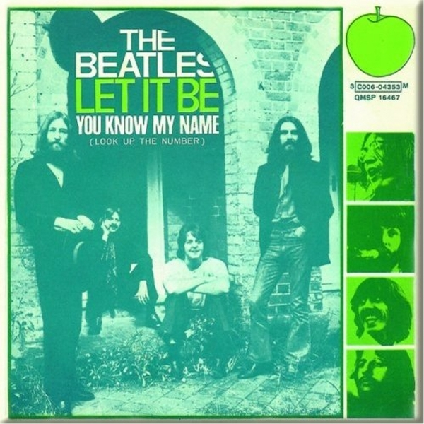 The Beatles - Let It Be / You Know My Name Fridge Magnet