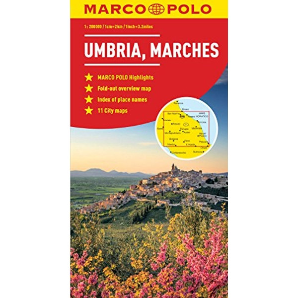 Umbria and the Marches Marco Polo Map  Sheet map, folded 2012