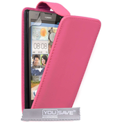 YouSave Huawei Ascend G740 Flip Case - Pink