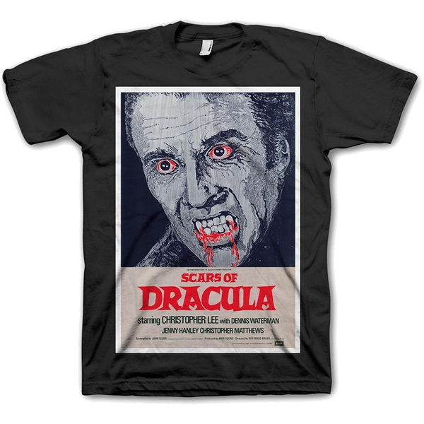StudioCanal - Scars of Dracula Unisex Small T-Shirt - Black