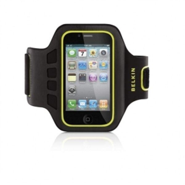 Neoprene Easefit Armband for iPhone 4 4S in Pink and Grey F8Z850CWC01
