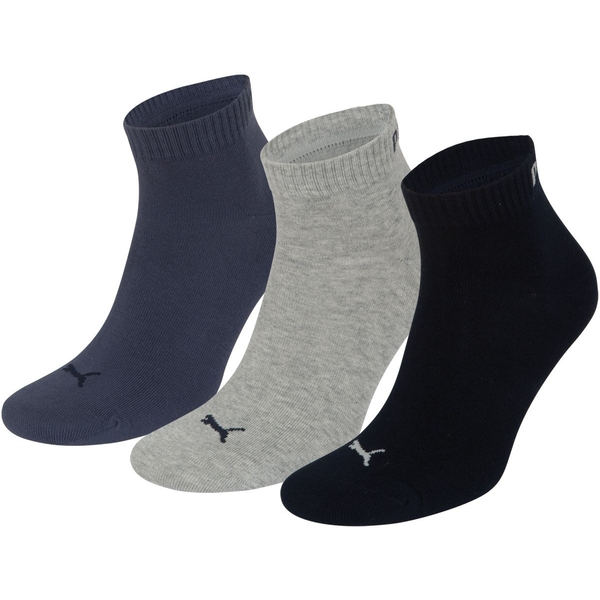 Puma Training Socks UK Size 9-11 Navy Mix Pack of 3