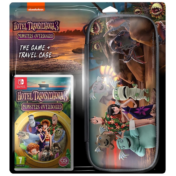 Hotel Transylvania 3 Monsters Overboard Game + Travel Case Nintendo Switch