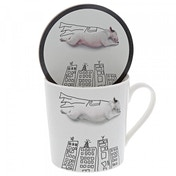 Super Dog (Jimmy the Bull) Dog Mug & Coaster Set