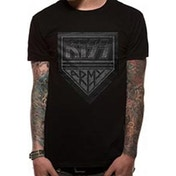 Kiss Men's Army Distressed T-Shirt - Small