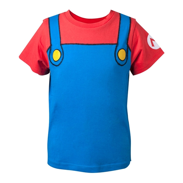 Nintendo - Mario Novelty Cosplay Kid's 86/92 T-Shirt - Multi-Colour