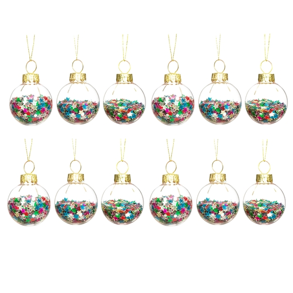Sass & Belle Mini Disco Stars Baubles - Set of 12