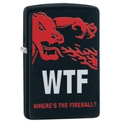 Zippo Fireball Black Regular Windproof Lighter
