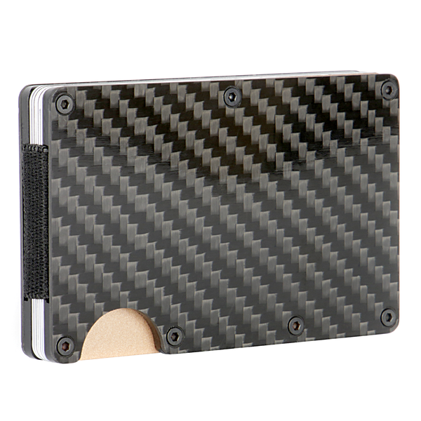 Carbon Fibre Mens RFID Blocking Card Wallet | M&W