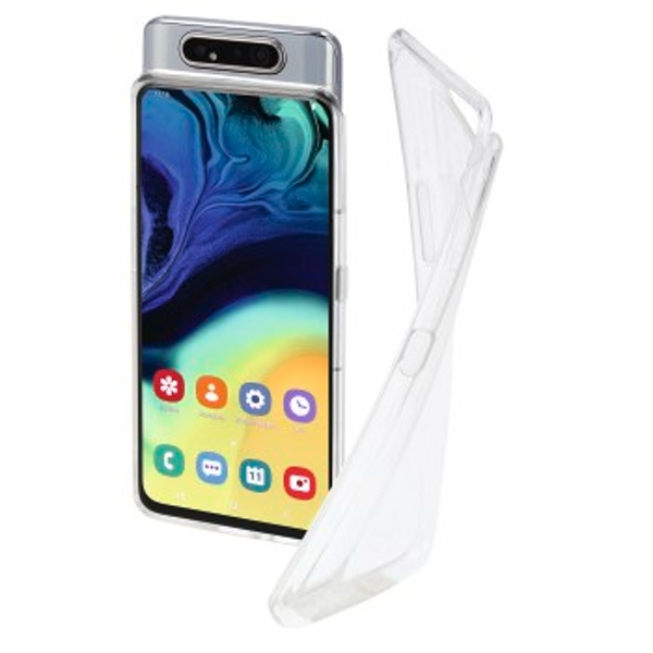 Hama Crystal Clear Backcover suitable for: Galaxy A80 Transparent
