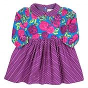 Kite Kids Baby-Girls 12-18 Months Tea Rose Polka Floral Dress